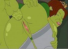 Cartoon pornô Shrek faz anal com Fiona